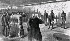 Fusilamiento de Maximiliano de Habsburgo, Miguel Miramón y Tomás Mejía, Cerro de las Campanas, 19 de junio de 1867.